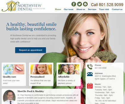 Northview Dental - Responsive Designed Custom Website