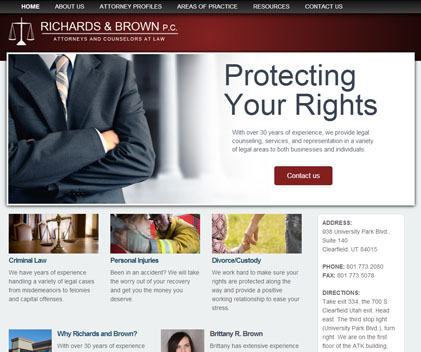 Richards Brown PC - Responsive Designed Custom Website